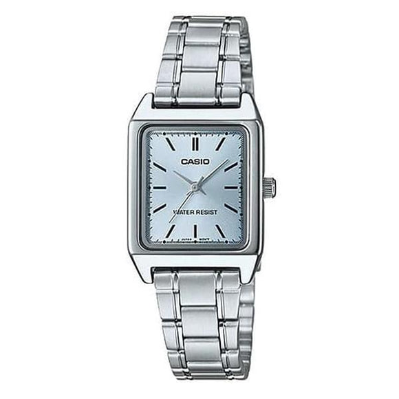 Casio Women's Blue Dial Stainless Steel Band Watch - LTP-V007D-2E
