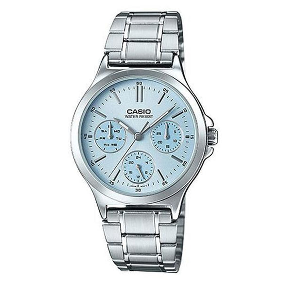 Casio Women's Blue Dial Multifunction Watch - LTP-V300D-2A