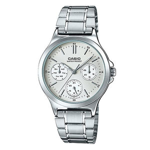 CASIO Women's Silver Dial Multifunction Watch - LTP-V300D-7A