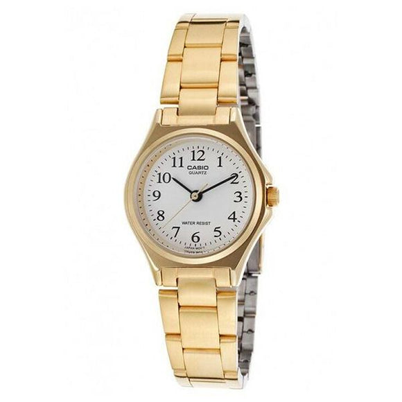 Casio Women's White Dial Gold Plated ANalog Watch - LTP1130N-7B