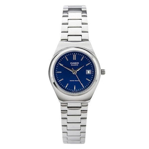 Casio Women's Blue Dial Stainless Steel Band Analog Watch LTP1170A-2A