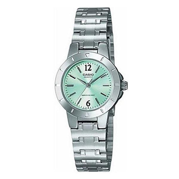 Casio Women's Green Dial Stainless Steel Band Analog Watch LTP1177A-3A