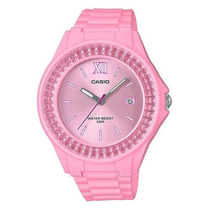 Casio Pink Dial Resin Band Watch - LX-500H-4E2