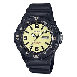Casio Beige Dial Resin Band Analog Watch MRW-200H-5B