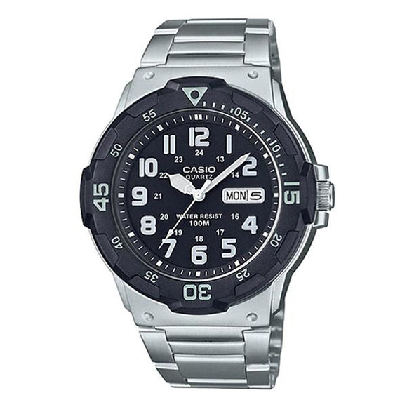 Casio Black Dial Stainless Steel Band Analog Watch - MRW-200HD-1B