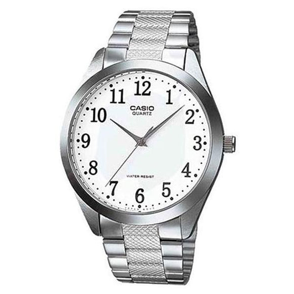 Casio White Dial Stainless Steel Band Analog Watch - MTP-1274D-7B
