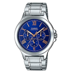 CASIO Men's Blue Dial Multifunction Watch - MTP-V300D-2A