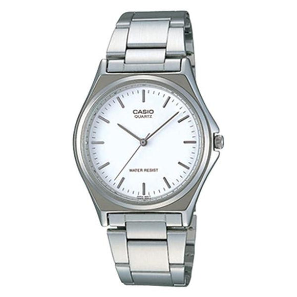 Casio White Dial Stainless Steel Band Analog Watch - MTP1130A-7A