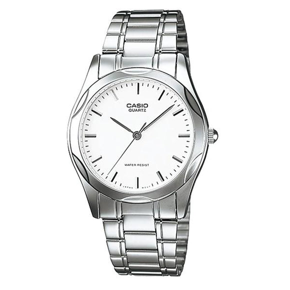 Casio Men's White Dial Stainless Steel Watch - MTP1275D-7A