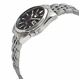 Seiko Men's Red and Black Dial Stainless Steel Case & Band Automatic Movement Watch SNK375K1 3