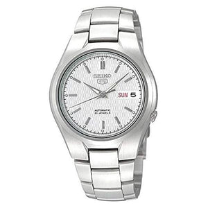 Seiko Men's White Dial Stainless Steel Case & Band Automatic Movement Watch SNK610K1 1