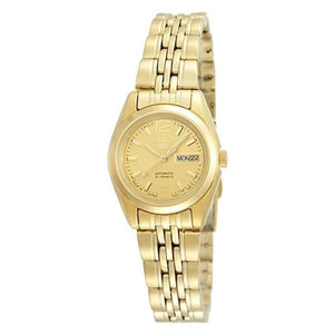 Seiko Women's Gold Dial Gold Plated Stainless Steel Case & Band Automatic Watch SYMA60J1  1