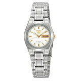 Seiko Women's White Dial Stainless Steel Case & Band Automatic Watch SYMH17J1  1