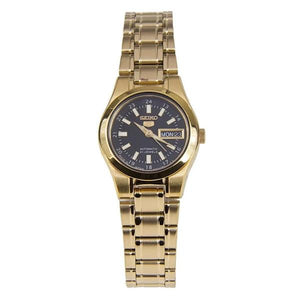 Seiko Women's  Black Dial Gold Plated Stainless Steel Case & Band Automatic Watch  SYMH32J1