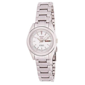 Seiko Women's White Dial Stainless Steel Case & Band Automatic Watch SYMK13J1  1