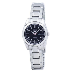 Seiko Women's Black Dial Stainless Steel Case & Band Automatic Watch SYMK17J1  1