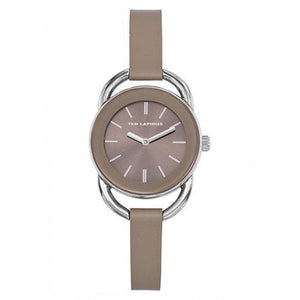 Ted Lapidus Women's Brown Dial Leather Strap Watch - A0681IGII