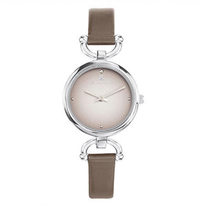 Ted Lapidus Women's Brown Dial Leather Strap Watch - A0693IGPI