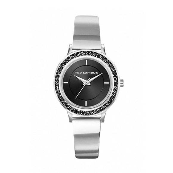 Ted Lapidus Women's Black Dial Stainless Steel Watch - A0728ANIW