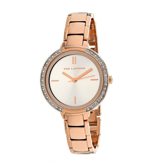 Ted Lapidus Women's Rose Gold Plated Stainless Steel Watch - A0730URIX
