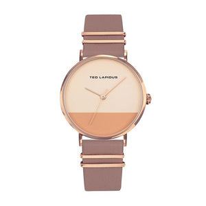 TED LAPIDUS Women's Rose Gold Dial Leather Strap Watch - A0739URMR