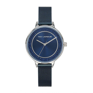 Ted Lapidus Women's Blue Plated Stainless Steel Watch - A0756ADMX