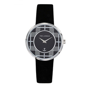 TED LAPIDUS Women's Black Dial Leather Strap Watch - A0759ANNN