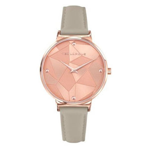 TED LAPIDUS Women's Rose Gold Dial Leather Strap Watch - A0760URPP