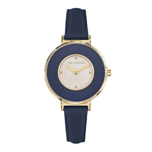 TED LAPIDUS Women's Blue Dial Leather Strap Watch - A0761PTPB