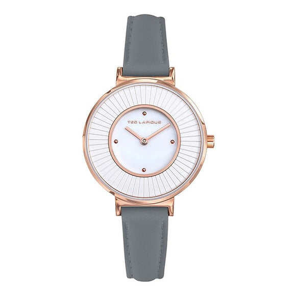 TED LAPIDUS Women's White Dial Leather Strap Watch - A0761UGPS