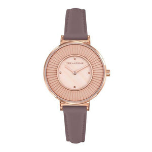 TED LAPIDUS Women's Rose Dial Leather Strap Watch - A0761URPL