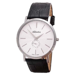 Adriatica Swiss Made Men's White Dial Leather Strap Watch A1113.5213Q