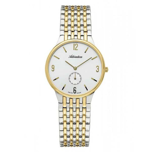Adriatica Swiss Made Men's Gold Plated Watch A1229.2153Q
