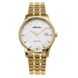 Adriatica Swiss Made Men's Gold Plated Watch A1258.1113Q