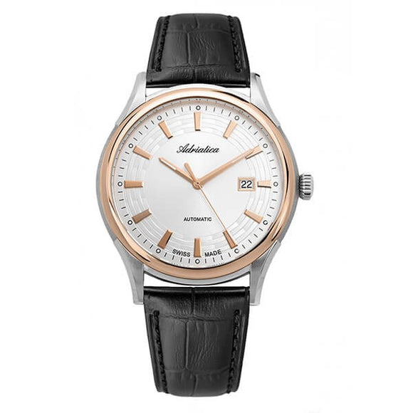 Adriatica Swiss Made Automatic Mechanical Leather Watch - A2804.R213A