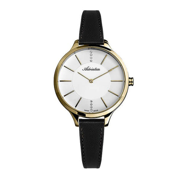Adriatica Swiss Made Women's Leather Strap Watch - A3433.1213Q