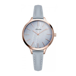 Adriatica Swiss Made Women's Grey Dial Leather Strap Watch A3433.9G1ZQ