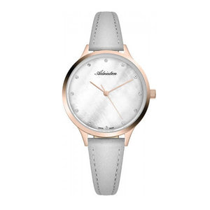 Adriatica Swiss Made Women's Grey Dial Leather Strap Watch A3572.9G4FQ