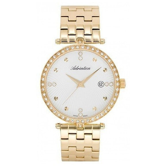 Adriatica Swiss Made Women's Gold Plated Watch - A3695.1143QZ 1