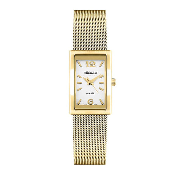 Adriatica Swiss Made Women's Gold Plated Watch - A3814.1153Q