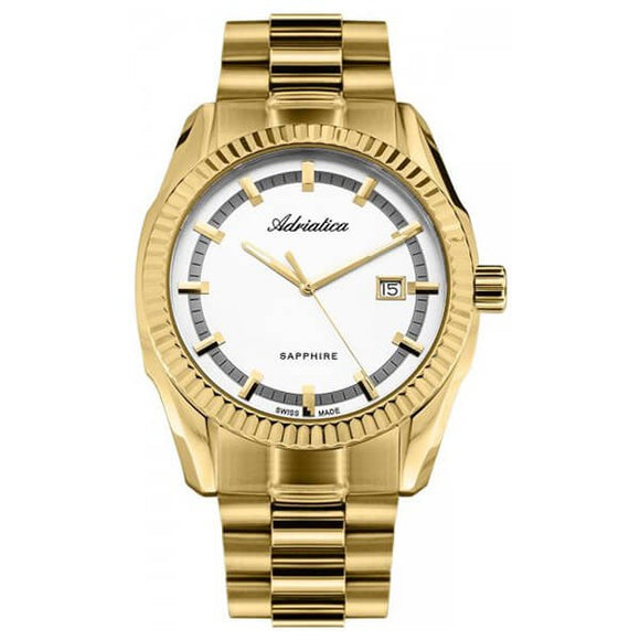 Adriatica Swiss Made Men's Gold Plated Watch - A8210.1113Q