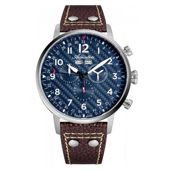 Adriatica Swiss Made Men's Blue Dial Chronograph Watch - A8308.5225CH