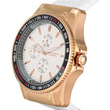 Blade Men's White Dial Rose Gold Stainless Steel Case White Polyurethane Band Multifunction Watch 3092G8RWW 2