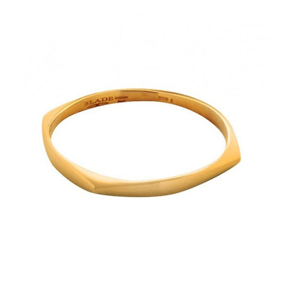 Blade Gold Stainless Steel Bangle