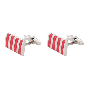 BLADE Cufflinks  Stainless Steel  Red Enamel -C202S  1