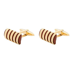BLADE Cufflinks  Stainless Steel  PVD Gold Plated - C203GR 1