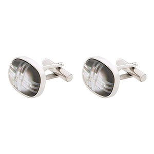 BLADE Cufflinks Stainless Steel Mother of Pearl - C211M 1