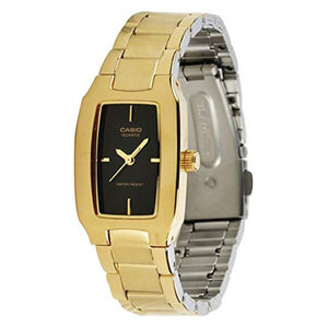 Casio Women's Black Dial Gold plated Case and band Analog Watch LTP-1165N-1C