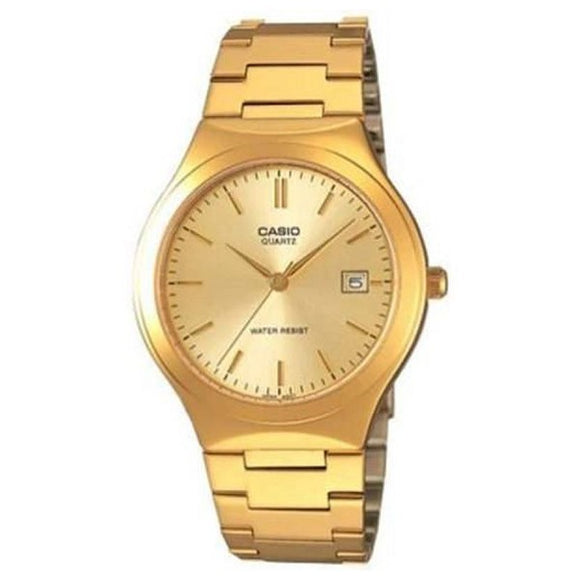 Casio Men's Gold Dial Gold plated Case and band Analog Watch MTP-1170N-9A