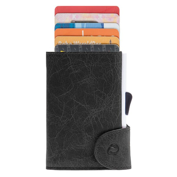 C-Secure Single Genuine Leather Wallet - WCH-blackwood